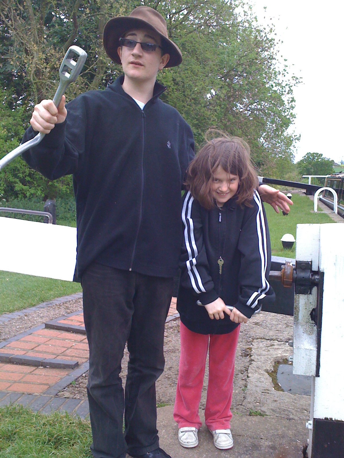 Will and Anna at Watford locks