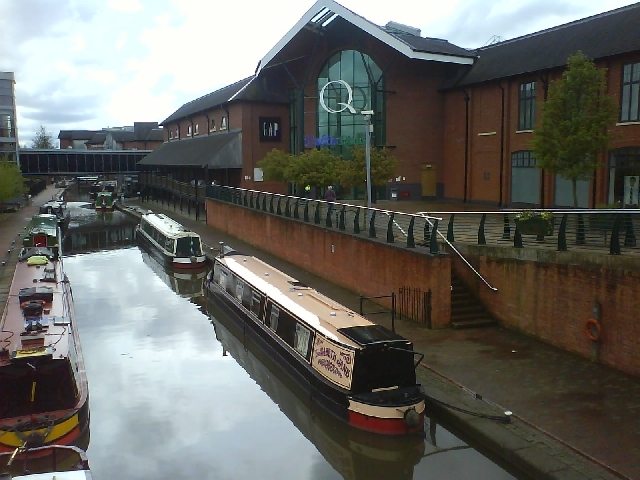 Moored next to the Shopping Centre in Banbury